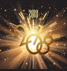 happy new year background with glowing lights and vector image vector image
