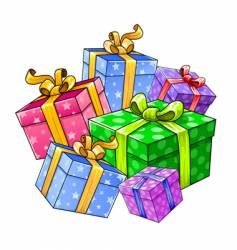 holiday gift presents isolated vector image vector image