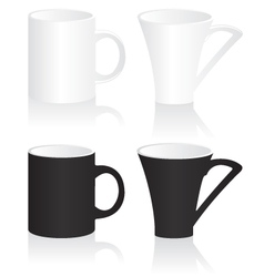 Mug black and white vector image vector image