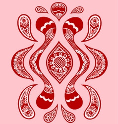 paisley floral pattern vector image vector image