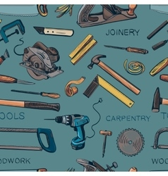 Pattern from various Carpentry woodworker vector image vector image