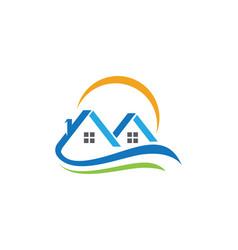 Real estate property and construction logo desig vector