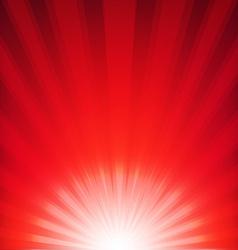 Red xmas burst poster vector