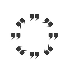 Round frame of the quotes dialog sticker for text vector