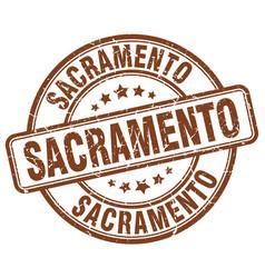 Sacramento stamp vector