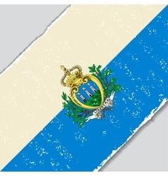 San marino grunge flag vector
