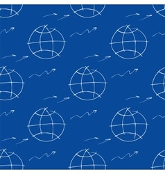 Seamless pattern with hand-drawn element planet vector