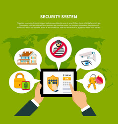 security concept vector image vector image