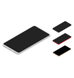 set of isometric smartphones vector image