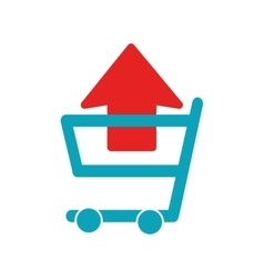 Shopping cart icon graphic vector image
