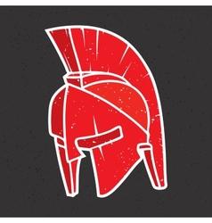 Warrior helmet vector