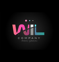 wil w i l three letter logo icon design vector image vector image