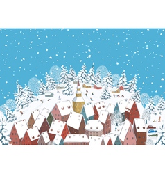Winter in a small town vector
