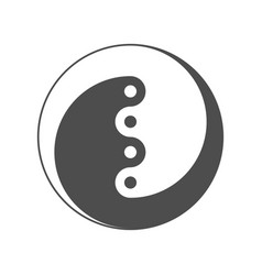 yin yang symbol of balance and harmony vector image