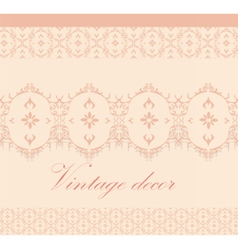 Vintage decor pattern vector
