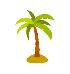 palm icon flat style vector image