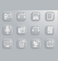 Media simply icons vector
