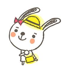 A rabbit is walking vector