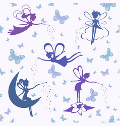 pattern with fairy vector image