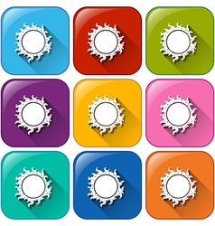 Icons with a sun vector