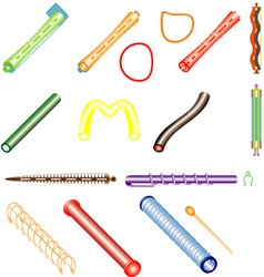 Hair curlers vector
