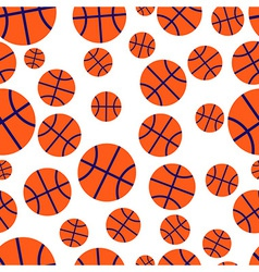 Basketball seamless pattern vector