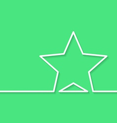Modern green background with star outline for text vector image