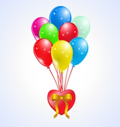 Coloured party balloons whit heart vector
