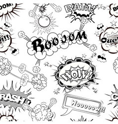 Seamless pattern comic speech bubbles vector