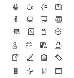 Office line icons 1 vector