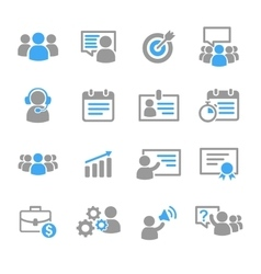 Business training education icons vector image