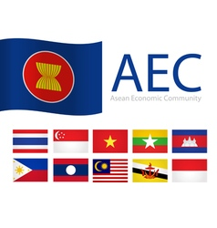 Flag aec asean vector