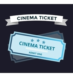 Cinema tickets on background vector image