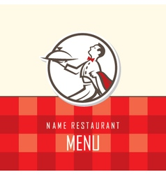 Waiter menu design vector