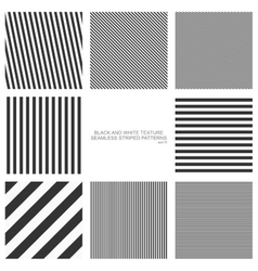 Set of seamless striped patterns vector