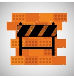 Construction design brick icon repair concept vector