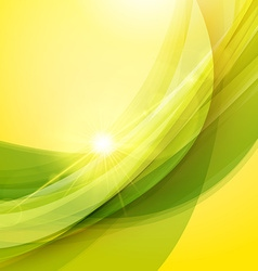 Abstract green and yellow background summer vector