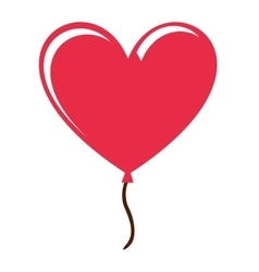 Heart love red icon vector