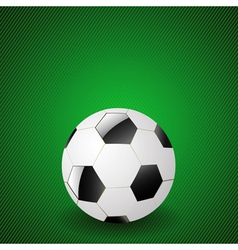 ball on a green background vector image vector image