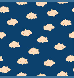 Beautiful seamless pattern with cute sleeping vector