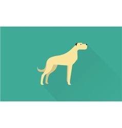 Big dog icon vector