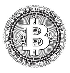 Bitcoin lineart vector