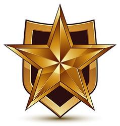 Branded golden geometric symbol stylized golden vector