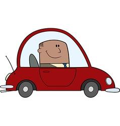 Business man driving car vector