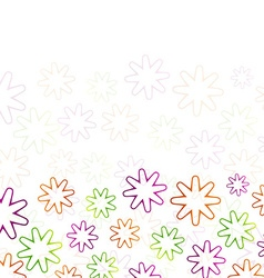 Colorful flowers abstract vector image vector image