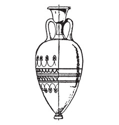greek vase is a large part of the lovely vector image vector image