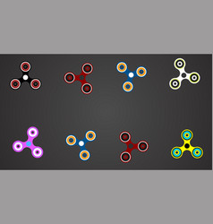 hand spinner flat set vector image