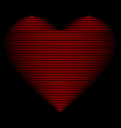 heart red line on black sign 2912 vector image