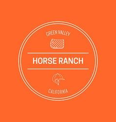 Horse label vector