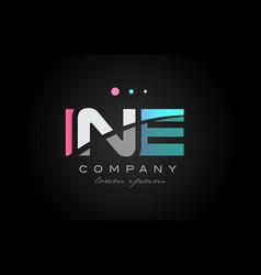 ine i n e three letter logo icon design vector image vector image